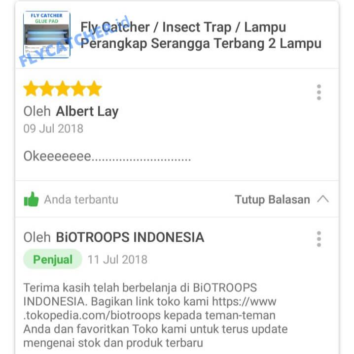 Ulasan Fly Catcher Lampu Perangkap Lalat Elektrik